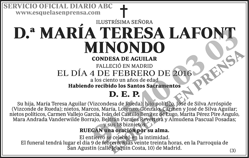María Teresa Lafont Minondo
